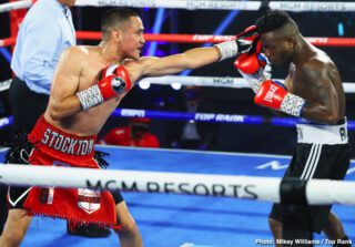 Boxing Results - Gabriel Flores Jr. shined in the first main event of his young career. The 20-year-old prodigy from Stockton, California, dominated his toughest opponent to date, cruising to a 10-round decision over Honduran veteran Josec Ruiz in the lightweight main event from the MGM Grand Conference Center—Grand Ballroom.