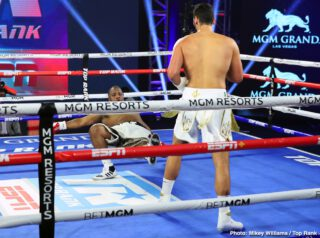 Robeisy Ramirez - Shakur Stevenson showed off his powerful body punching ability on Tuesday night in dropping Felix Caraballo (13-2-2, 9 KOs) twice with hard shots en route to scoring a 6th round knockout on ESPN at the MGM Grand Garden Arena in Las Vegas, Nevada.