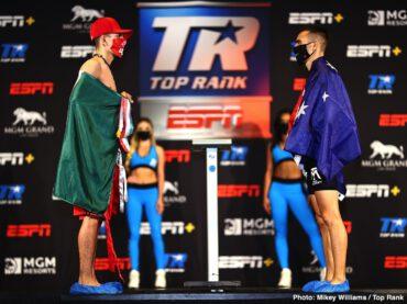 Abraham Nova, Jason Moloney, Leonardo Baez - (ESPN & ESPN Deportes, 8 p.m. ET / 5 p.m. PT)