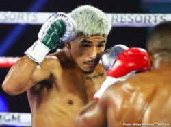 Jessie Magdaleno, Yenifel Vicente - There were fouls, multiple point deductions, and knockdowns. But for featherweight Jessie Magdaleno, the win is all that mattered. Magdaleno prevailed over Yenifel Vicente via disqualification in the Top Rank on ESPN main event Thursday evening from the MGM Grand Conference Center — Grand Ballroom in Las Vegas.