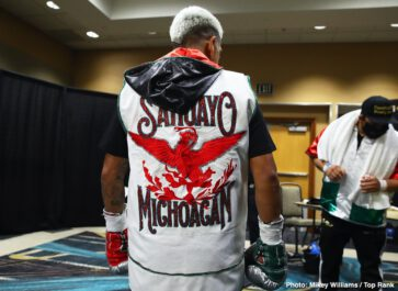 Adam Lopez, Jessie Magdaleno, Louie Coria, Yenifel Vicente - Jessie Magdaleno beat his overmatched opponent Yenifel Vicente on Thursday night by a 10th round disqualification at 'The Bubble at the MGM Grand in Las Vegas, Nevada.