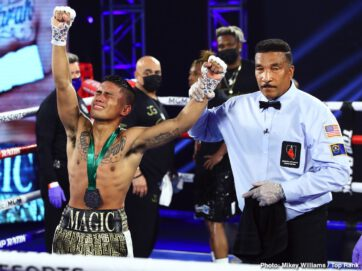 "Antonio DeMarco, Bobirzhan Mominov, Giovani Santillan, Joshua Greer, Mike Plania - ""Magic"" Mike Plania had an evening that was nothing short of magical. The Filipino upstart stunned WBO No. 1 bantamweight contender Joshua Greer Jr. via majority decision Tuesday evening from the MGM Grand Conference Center—Grand Ballroom."