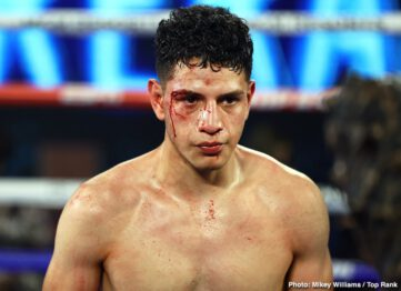 "Andrew Moloney, Joshua Franco - Underdog Joshua Franco (17-1-2, 8 KOs) beat WBA World super flyweight champion Andrew Moloney (21-1, 14 KOs) by a narrow 12 round unanimous decision on Tuesday night on ESPN at The Bubble"" at the MGM Grand in Las Vegas."