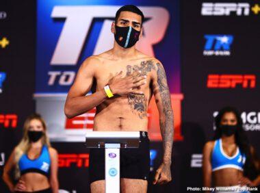 Alex Saucedo, Sonny Fredrickson - Live boxing is back! Don't miss Saucedo vs. Fredrickson- TONIGHT at 8 p.m. ET / 5 p.m. PT live on ESPN & ESPN Deportes - from the MGM Grand Conference Center - Grand Ballroom (Las Vegas)