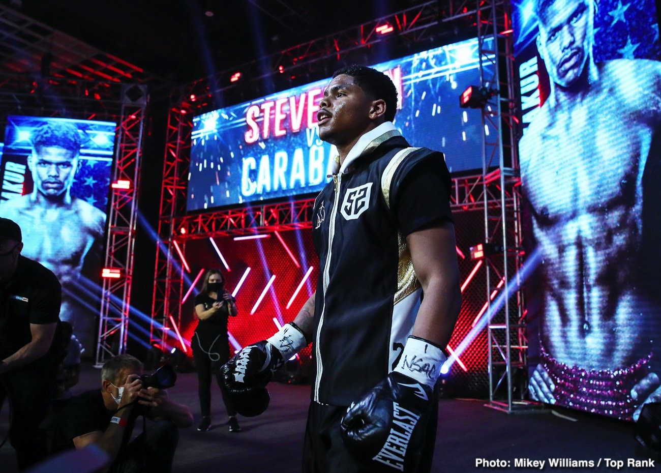 Miguel Berchelt, Shakur Stevenson - Shakur Stevenson has decided to stay at 130 following his victory over Felix Caraballo on June 9, and he wants to after the best in the division. At super featherweight, Stevenson is interested in facing WBC champion Miguel Berchelt according to Mike Coppinger.