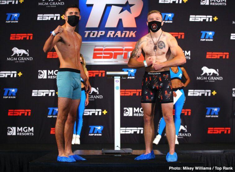 Gabriel Flores, Jose Pedraza, Mikkel Lespierre - Gabriel Flores Jr.—Josec Ruiz elevated to main event (ESPN & ESPN Deportes, 8 p.m. ET)