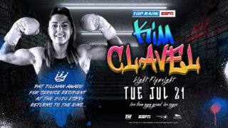 Charles Conwell - Undefeated light flyweight boxer Kim Clavel, who won the 2020 Pat Tillman Award for Service at the ESPYs, is ready for her next fight.