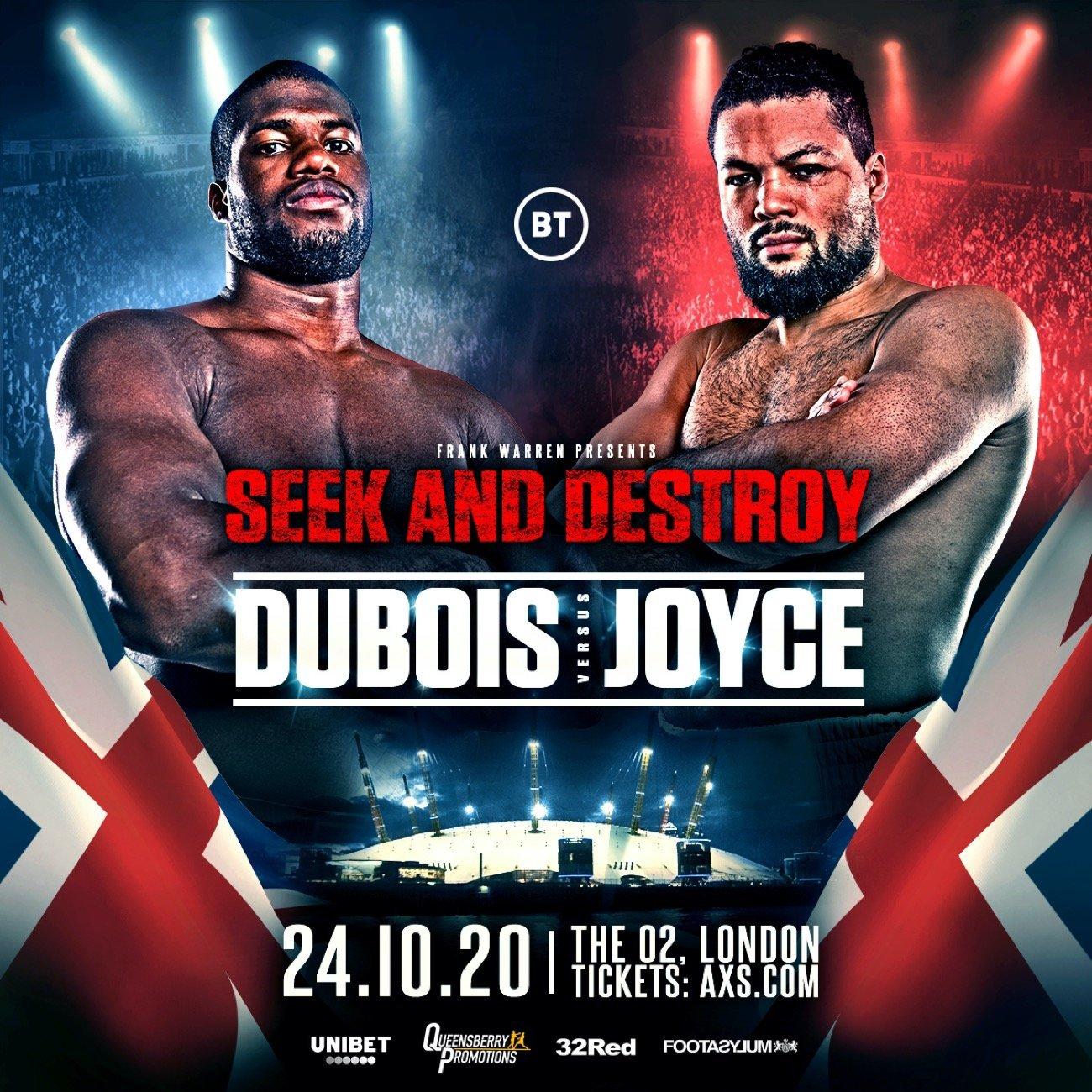 Daniel Dubois - BRITISH boxing's Heavyweight super-fight between unbeaten KO Kings 'Dynamite' Daniel Dubois and 'Juggernaut' Joe Joyce will now take place at The 02 Arena, London on Saturday October 24.