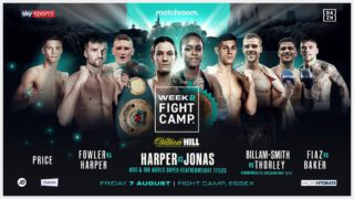 Jason Welborn - Four BCB Promotions fighters will take centre stage as Eddie Hearn and Matchroom present Fight Camp– an unrivalled summer of elite boxing based at the Matchroom HQ in Brentwood, Essex with the first three weeks shown live on Sky Sports in the UK and DAZN in the US – and the final week shown live on Sky Sports Box Office.
