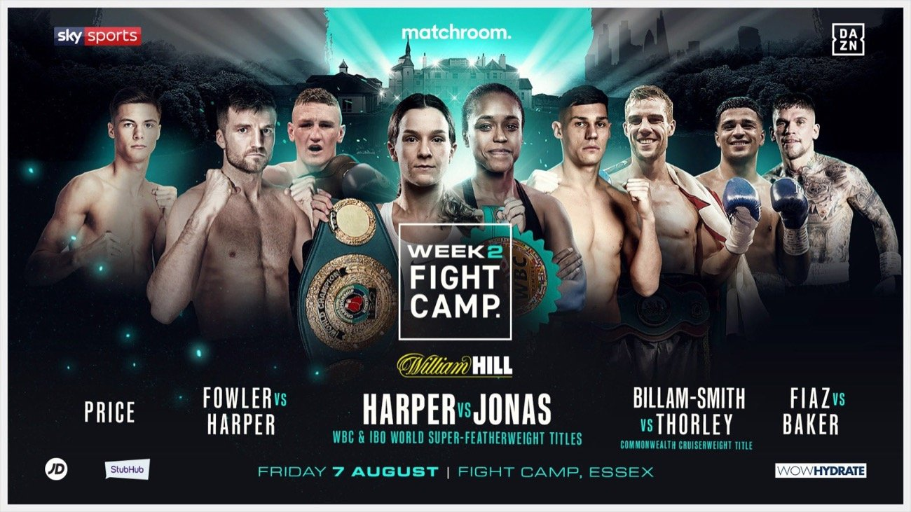 Adam Harper, Jason Welborn, Kane Baker, Rachel Ball - Four BCB Promotions fighters will take centre stage as Eddie Hearn and Matchroom present Fight Camp– an unrivalled summer of elite boxing based at the Matchroom HQ in Brentwood, Essex with the first three weeks shown live on Sky Sports in the UK and DAZN in the US – and the final week shown live on Sky Sports Box Office.
