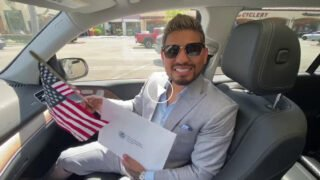 Abner Mares - Abner Mares, the former four-time, three-division World Boxing Champion, was sworn in as a U.S. Citizen yesterday in a Naturalization ceremony in Los Angeles. Due to COVID-19, Abner's naturalization ceremony was moved to a drive-thru swearing-in process, keeping all of the new citizens safe.
