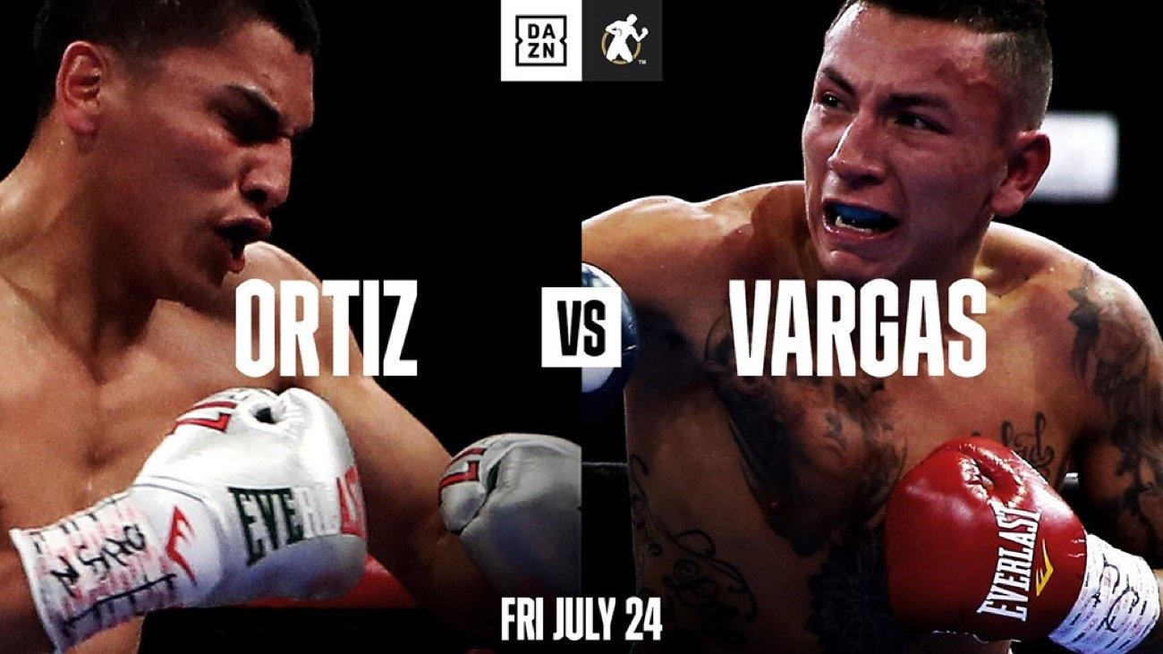 Hector Tanajara Jr., Mercito Gesta, Samuel Vargas, Shane Mosley Jr, Vergil Ortiz - Golden Boy, DAZN, and Fantasy Springs Resort Casino are proud to announce the return of world-class professional boxing in Southern California! In the main event of this long-awaited comeback, Vergil Ortiz Jr. (15-0, 15 KOs) will defend his WBA Gold Welterweight Title against Samuel Vargas (31-5-2, 14 KOs) in a 12-round bout.