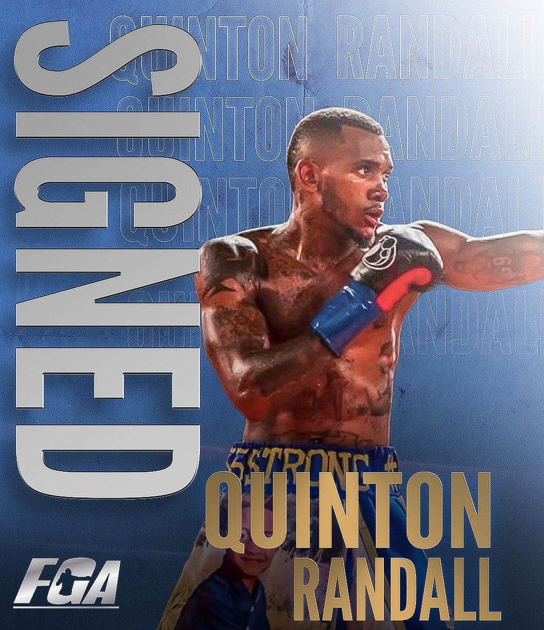 Press Room - Peter Kahn's Fight Game Advisors has signed Top Welterweight Prospect, Quinton Randall, (6-0, 2 K.O.s) of Houston, TX, to an exclusive managerial contract, it was announced today.