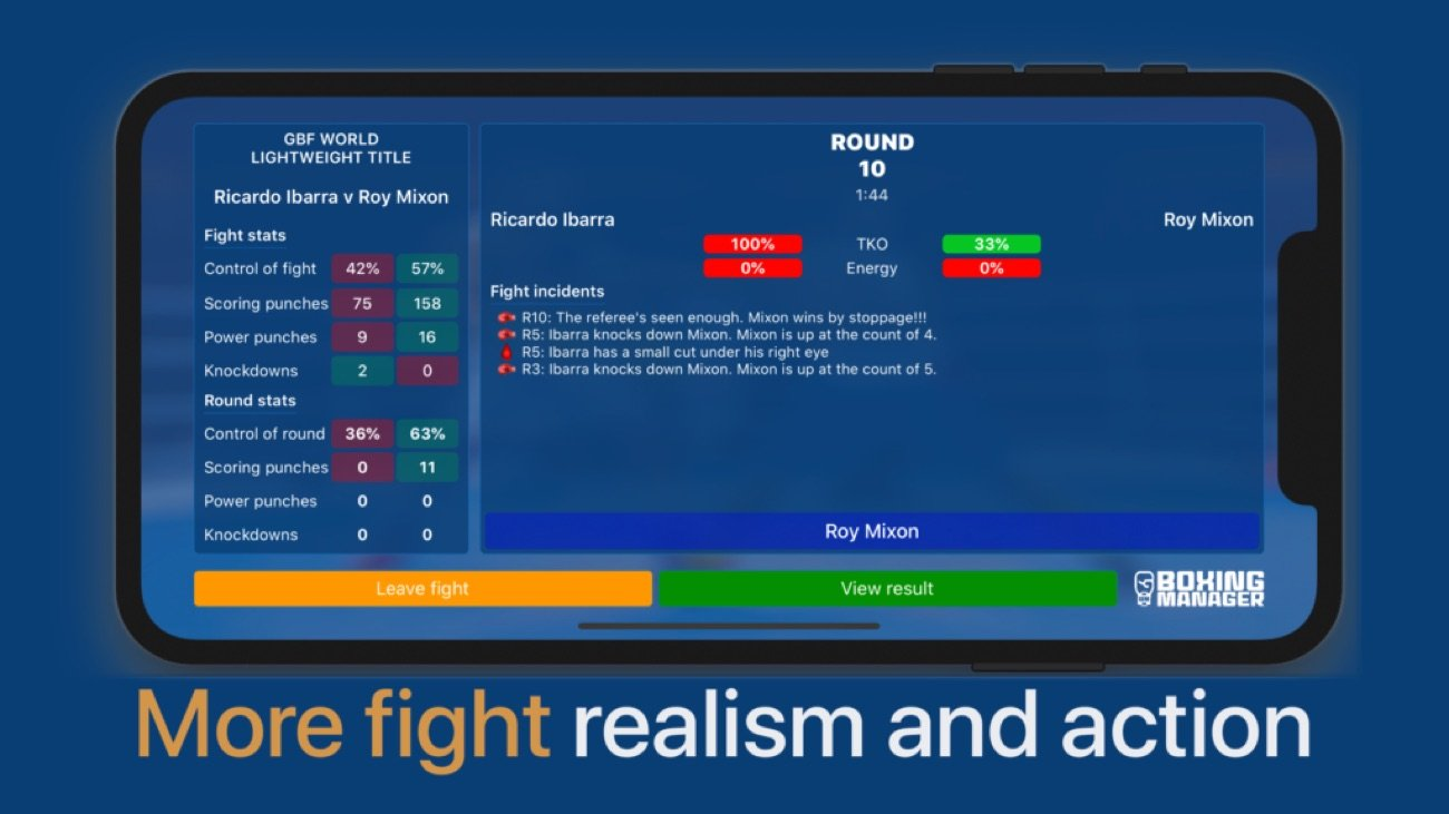 -  A new boxing management game app that gives gamers and boxing fans the chance to walk in the shoes of the world's leading trainers and promoters, has launched exclusively on the App Store today.