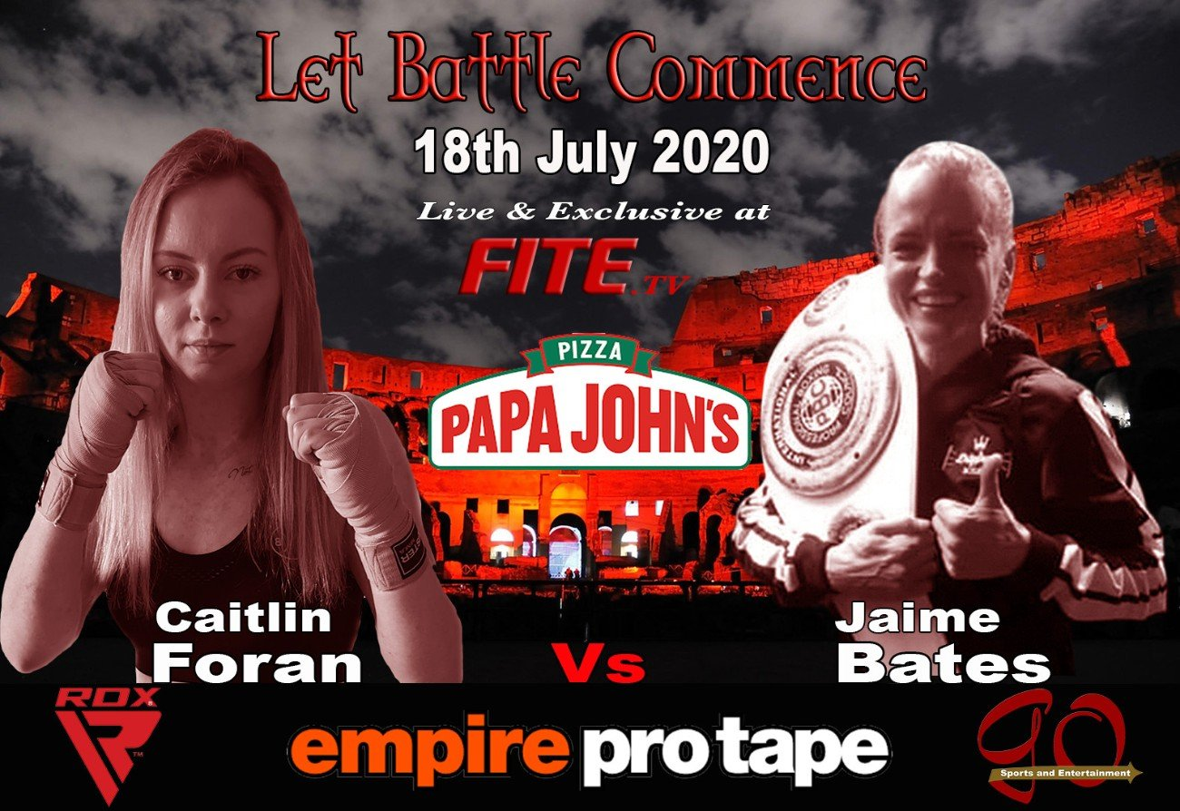 Caitlin Foran, Carly Mackenzie - Carly Mackenzie has been forced to pull out of her much-anticipated fight against ten-time Kickboxing World Champion Caitlin Foran this coming Saturday.