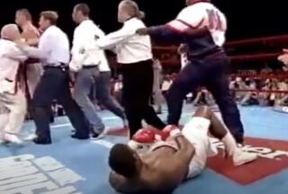 "Riddick Bowe - It's almost a quarter of a century since the unforgettable scenes inside Madison Square Garden in New York unfolded. It was on July 11th in 1996 when Riddick Bowe met ""Foul Pole"" Andrew Golota for the first time. The result was absolute carnage, in the ring and out of it. The walls of this historic venue literally shook due to the animalistic barbarity that was on display. Animalistic barbarity that was shown not by the two fighters (although Golota, with his insane inability to prevent himself from throwing dangerously low blows again and again, sure came close) – but by the fans in attendance that day. A whole lot of them, anyway."