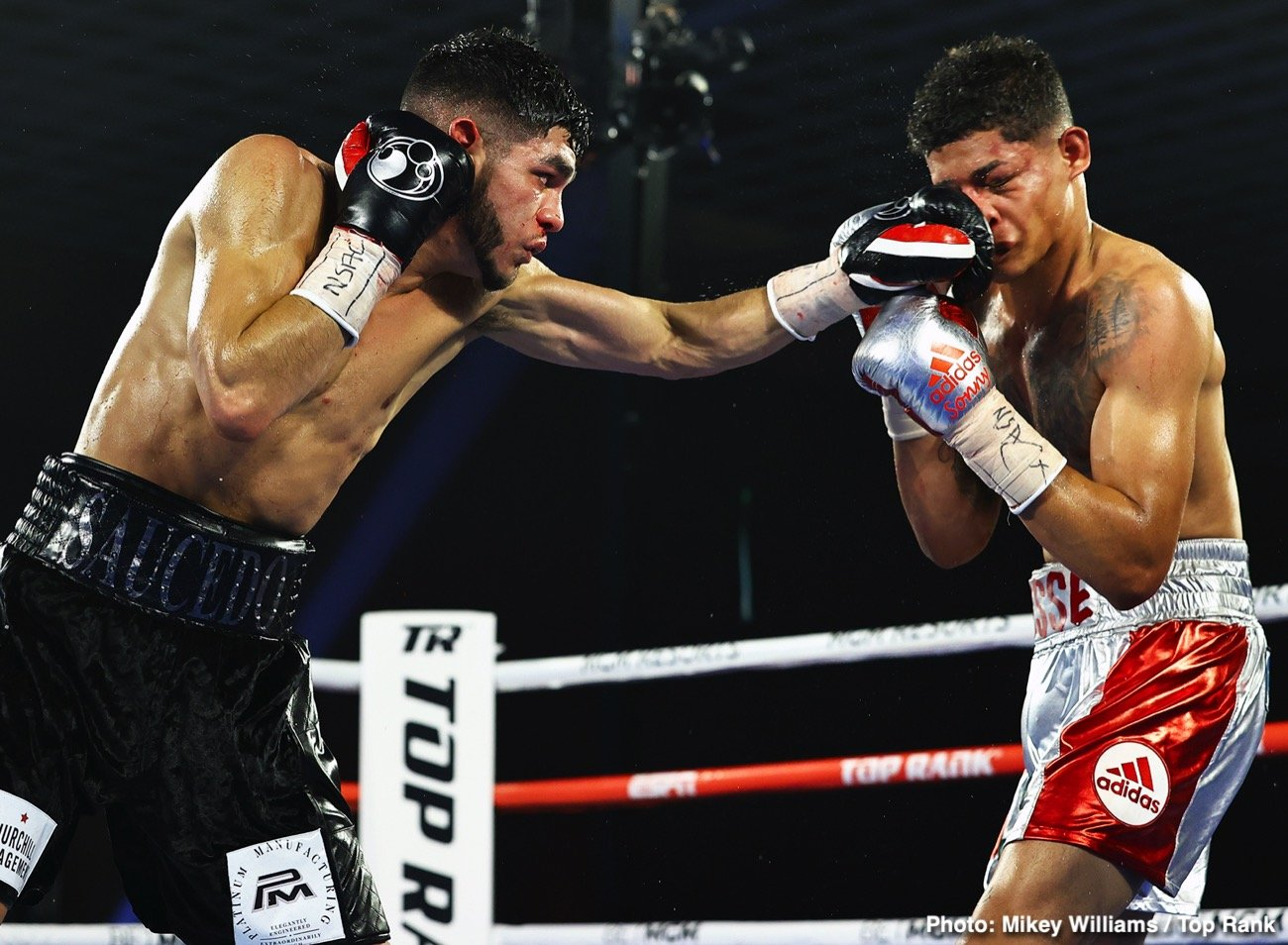 Alex Saucedo, Sonny Fredrickson - The fighting pride of Oklahoma City put forth a clinic in Las Vegas. Junior welterweight contender Alex Saucedo, fighting for the second time since falling short in a world title bid, bested Sonny Fredrickson by unanimous decision Tuesday evening at the MGM Grand Conference Center — Grand Ballroom.