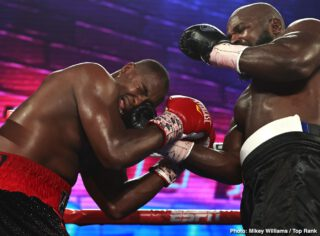Carlos Takam - CARLOS TAKAM (now 39-5-1 28KO's) took to the national stage on Thursday night when he faced off with fellow heavyweight contender, JERRY FORREST (now 26-4 20KO's) in a 10-round main event on ESPN. Both men were scheduled to fight different opponents - Oscar Rivas for Takam, and Jarrell Miller for Forrest, but when both fights fell through because of injury and a PED finding respectively, Takam and Forrest took the opportunity to square off.