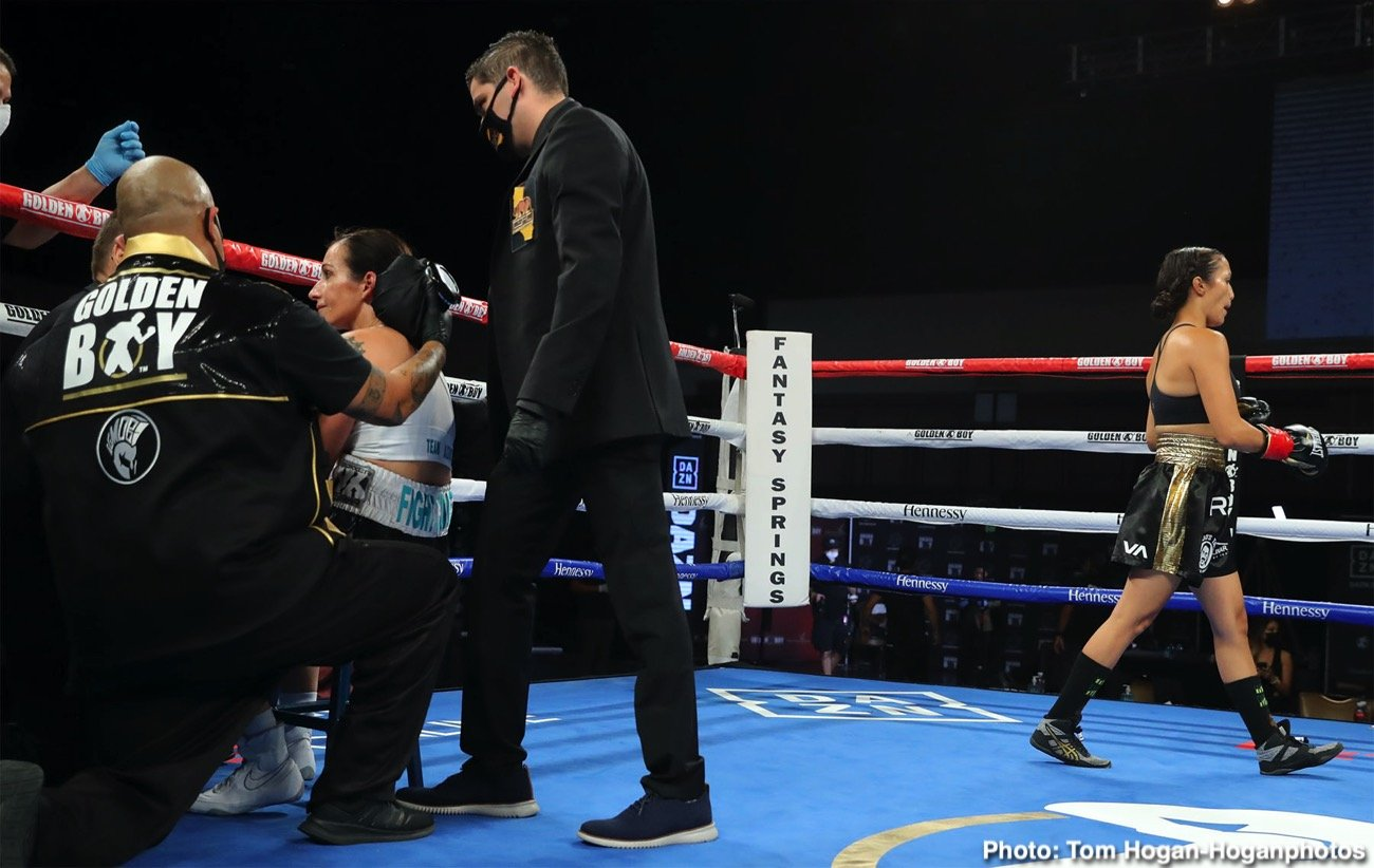 Seniesa Estrada - This one isn't so much a candidate for KO of The Year; more like a strong candidate for Mismatch of The Year. Last night in Indio, California, talented and unbeaten female fighter Seniesa Estrada, a light-flyweight, scored a sickening looking KO over 42 year old Miranda Adkins – the KO coming after just seven-seconds of action. A gross mismatch that has been universally lambasted, the destruction job 28 year old Estrada did on Adkins could have led to tragedy.