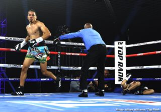 "Felix Verdejo - Felix Verdejo was all set for stardom, for greatness. Then the Puerto Rican lightweight hit a bump in the road. The 27 year old endured periods of inactivity and then, in March of 2018, he was stopped by Antonio Lozado Torres. Verdejo has won four in a row since being stopped, last night's impressively quick stoppage win over Will Madera seeing ""El Diamante"" improve to 27-1(17)."