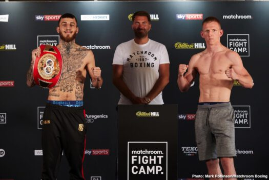Sam Eggington, Ted Cheeseman - Eggington Vs. Cheeseman Weights And Running Order - 19:00 LIVE ON SKY SPORTS  - 19:15 FIRST BELL