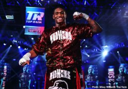 """Felix Verdejo, Jared Anderson, Will Madera - Felix """"El Diamante"""" Verdejo entered, and then conquered, the MGM Grand """"Bubble."""" The Puerto Rican star knocked out the previously undefeated """"Ill"""" Will Madera in the opening round of a scheduled 10-round lightweight bout Thursday evening."""