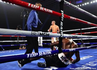 Adan Gonzales - Former two-weight world champion Jose Pedraza's quest for a title in a third weight class is alive and well. Pedraza, from Cidra, Puerto Rico, toppled Mikkel LesPierre via unanimous decision (100-88 and 99-89 2x) Thursday night in a junior welterweight bout.