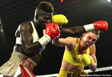 "Clay Collard, Helen Joseph, Lorawnt-T Nelson, Mikaela Mayer - Mikaela Mayer made history Tuesday evening, but more importantly, she earned the win. Mayer (13-0, 5 KOs) outboxed Helen Joseph (17-5-2, 10 KOs) over 10 rounds, earning a unanimous decision (100-90 2x and 99-91) at the MGM Grand ""Bubble."" Mayer-Joseph marked the first female main event in Top Rank on ESPN history."