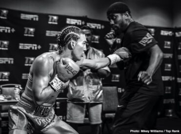 """Clay Collard, Helen Joseph, Lorawnt-T Nelson, Mikaela Mayer - Mikaela Mayer made history Tuesday evening, but more importantly, she earned the win. Mayer (13-0, 5 KOs) outboxed Helen Joseph (17-5-2, 10 KOs) over 10 rounds, earning a unanimous decision (100-90 2x and 99-91) at the MGM Grand """"Bubble."""" Mayer-Joseph marked the first female main event in Top Rank on ESPN history."""