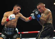 Samuel Vargas, Vergil Ortiz Jr. - WBA Gold welterweight champion Vergil Ortiz Jr (16-0, 16 KOs) used his superior power to batter his opponent Samuel Vargas (31-6-2, 14 KOs) until the fight was stopped in the seventh round on Friday night. The match took place at the Fantasy Springs Resort Casino in Indio.