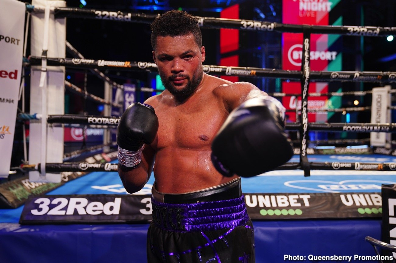 Joe Joyce, Michael Wallisch - Unbeaten heavyweight contender Joe Joyce raised a few eyebrows when he weighed-in for last night's warm-up fight with Germany's Michael Wallisch. Joyce tipped-in at a career-heavy 270 pounds, this some 14 pounds heavier than he weighed for his win over Bryant Jennings.