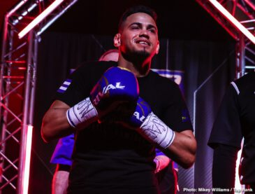Adan Gonzales, Albert Bell, Elvis Rodriguez, Jose Pedraza, Mikkel Lespierre, Robeisy Ramirez - Former two-weight world champion Jose Pedraza's quest for a title in a third weight class is alive and well. Pedraza, from Cidra, Puerto Rico, toppled Mikkel LesPierre via unanimous decision (100-88 and 99-89 2x) Thursday night in a junior welterweight bout.
