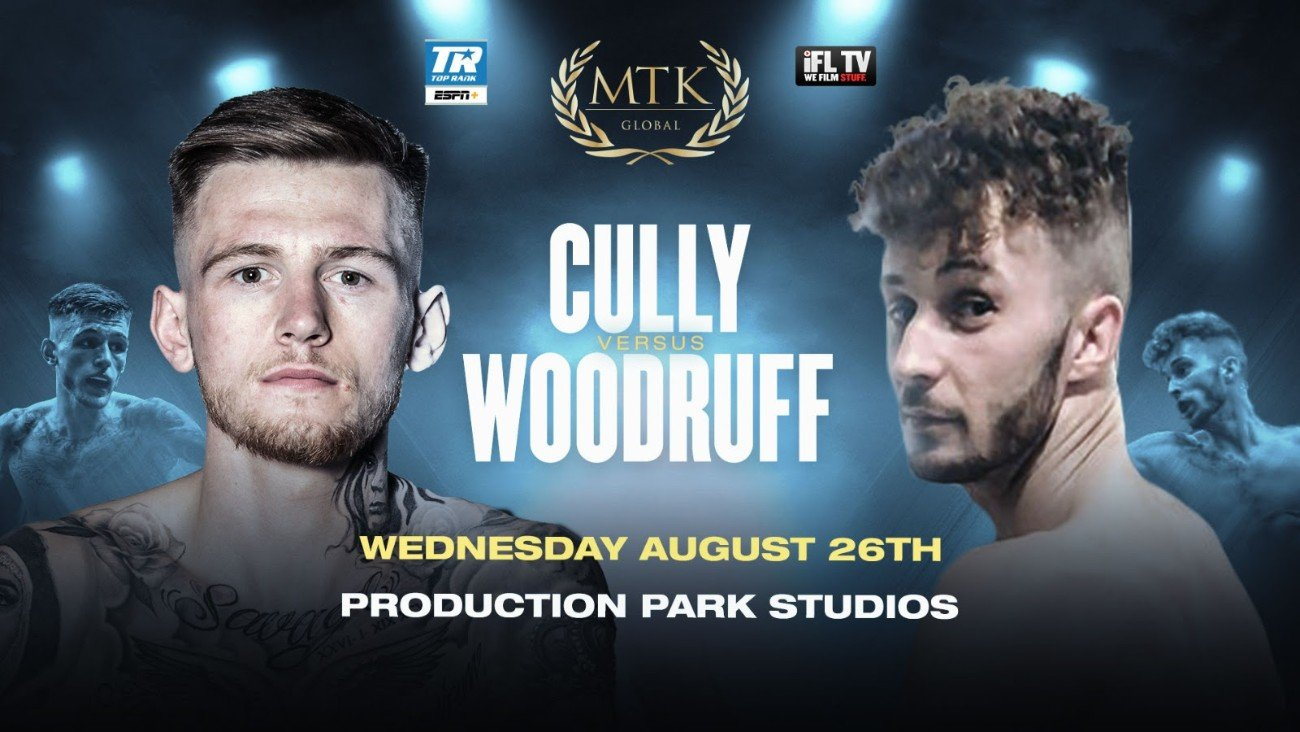 Press Room - Undefeated Irish star Gary Cully will now take on former Welsh Area lightweight champion Craig Woodruff on an action-packed #MTKFightNight at Production Park Studios in Wakefield on August 26.