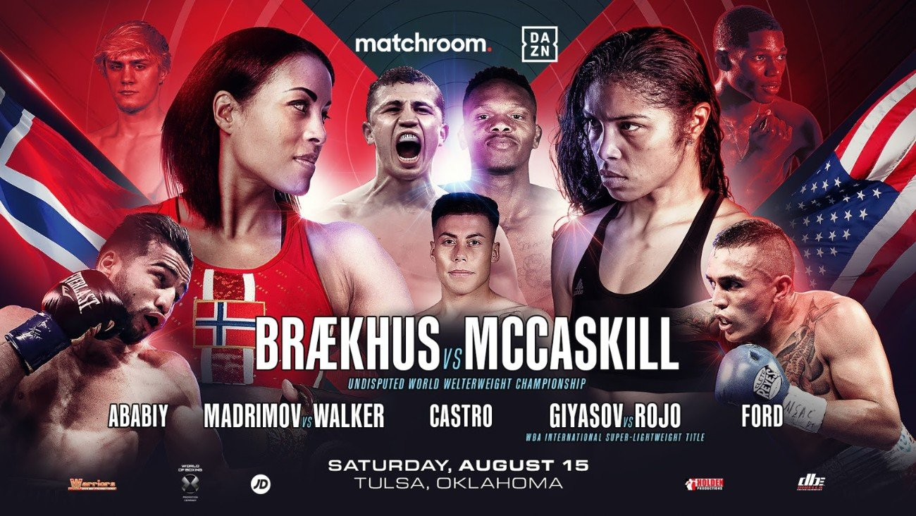 Eric Walker, Israil Madrimov. Nikita Ababiy - Israil Madrimov is looking to steal the show again to convince promoter Eddie Hearn to put on a huge show in Uzbekistan as he faces Eric Walker in a final eliminator for the WBA World Super-Welterweight title in the streets of downtown Tulsa, Oklahoma on Saturday night (August 15) live on DAZN.