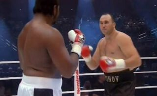 Alexander Ustinov - Long-time heavyweight contender, 43 year old Alexander Ustinov was in action yesterday. Fighting on the Sunday card staged in Minsk, Belarus, the veteran picked up a win that came suddenly, as the action was just beginning to heat up. Ustinov got the win when his opponent, Tornike Puritchamiatshvill of Georgia was unable to come out for round-three.