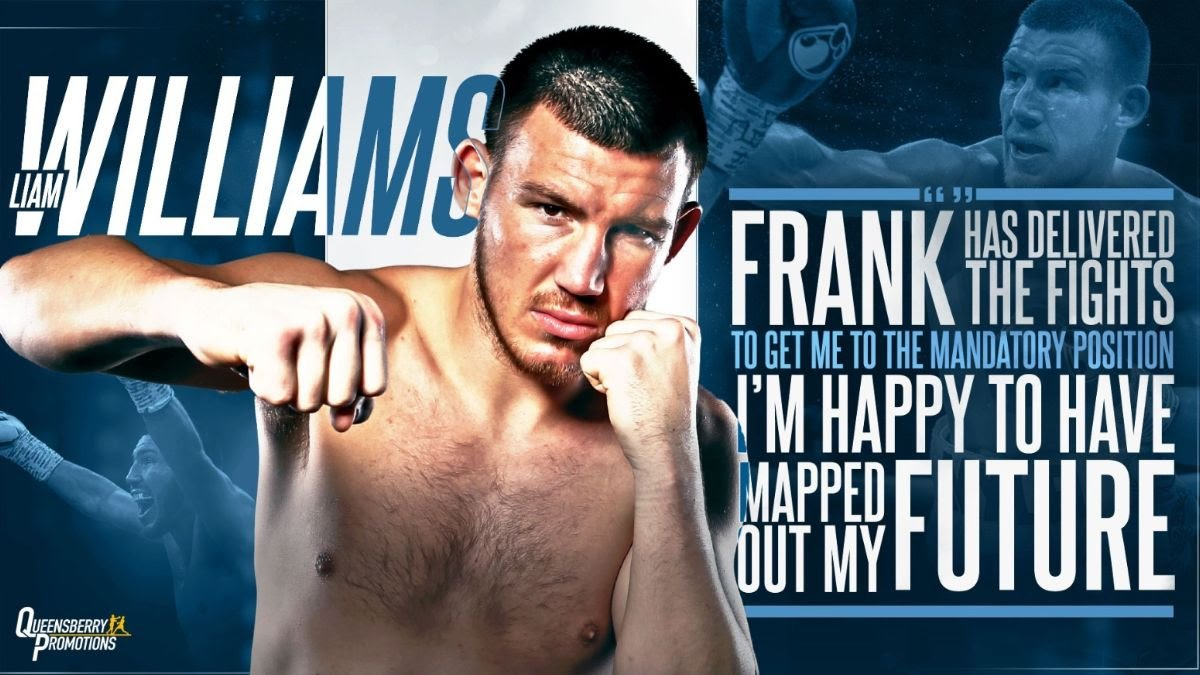Liam Williams - Middleweight 'Machine' Liam Williams has signed a new long-term promotional agreement with Frank Warren and Queensberry Promotions.