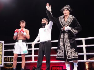 Kamshybek Kunkabayev - It was a night to remember as a substantial #MTKFightNight event took place in Almaty, Kazakhstan, with highly-rated debutants Kamshybek Kunkabayev and Tursynbay Kulakhmet proving their worth by overcoming dangerous opponents.