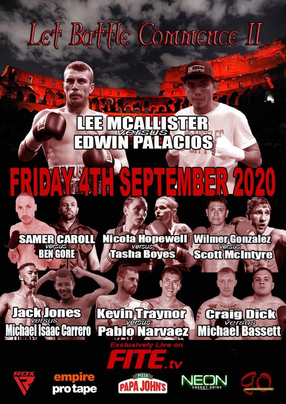 Edwin Palacios, Lee McAllister - British Boxing