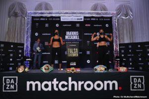 Jessica McCaskill - Cecilia Brækhus can become a record-breaker tonight against Jessica McCaskill. The undisputed World Welterweight champion has questioned whether her challenger has the goods to rip the titles from her on the streets of downtown Tulsa, Oklahoma, live on DAZN from 7 pm CT/8 pm ET.