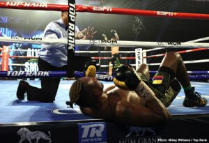 "Eleider Alvarez - JOE ""THE BEAST"" SMITH JR.'s (now 26-3 21KO's) WBO Light Heavyweight World Title Eliminator against ELEIDER ""STORM"" ALVAREZ (now 25-2 13KO's) on ESPN+, ended in absolutely thrilling fashion, last night, as the upset-minded Smith Jr. strapped up his boots, clocked in, and went to work."