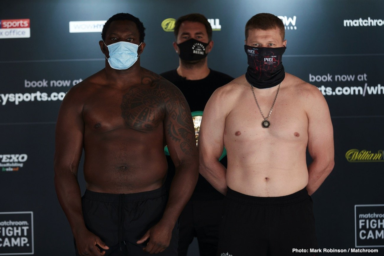 Alexander Povetkin, Dillian Whyte - 19:00 LIVE ON SKY SPORTS AND SKY SPORTS BOX OFFICE