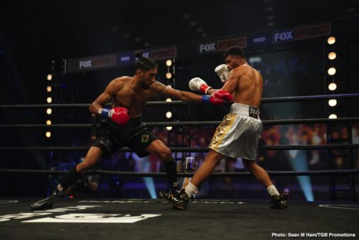 "Jamal James, Thomas Dulorme - Top welterweight Jamal ""Shango"" James won an exciting unanimous decision over Thomas Dulorme to capture the Interim WBA Welterweight Title Saturday night in the main event of of FOX PBC Fight Night and on FOX Deportes, from the Microsoft Theater in Los Angeles."