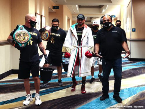 """Jose Ramirez, Viktor Postol - After being forced to wait so long, to endure more than one postponement of the fight, 140 pounders Jose Ramirez and Viktor Postol finally met last night inside the """"bubble"""" at The MGM Grand in Las Vegas."""
