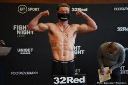 Carl Frampton, Darren Traynor, Michael Conlan, Sofiane Takoucht - Closed-door event will take place in London (ESPN, 4 p.m. ET) - Undercard bouts to stream live on ESPN+ (2:30 p.m. ET) and BT Sport in the UK. The action begins on BT Sport 2 at 8pm with a stellar cast of talent battling it out on the undercard. Once the Champions League Quarter Final between Manchester City and Lyon concludes, we will be live across both BT Sport 1 and 2 from 10.30 for the return to the ring of 'The Jackal' Carl Frampton.