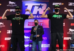 """Viktor Postol - ESPN+ stream to begin Saturday at 7:30 p.m. ET/4:30 p.m. PT - Finally! After a pair of fight, dates fell by the wayside, WBC/WBO junior welterweight world champion Jose Ramirez and former world champion Viktor Postol are set to fight Saturday evening from the MGM Grand """"Bubble"""" (ESPN+ coverage begins at 7:30 p.m. ET)."""