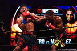Jackson Marinez, Rolando Romero - Last night at the Mohegan Sun in Uncasville, Connecticut, unbeaten 135 pounders Rolando Romero and Jackson Marinez squared off for the interim WBA lightweight title. At the end of the 12 rounds, almost everyone felt Marinez, 19-0(7) going in, had more than done enough to have won. But no, a unanimous decision that has stunned many, outraged plenty, was instead turned in in favour of Romero.