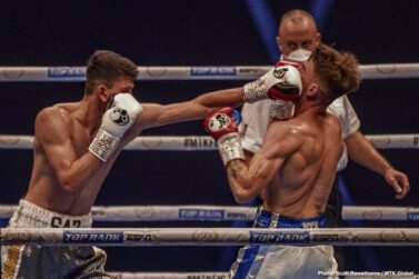 Jono Carroll, Maxi Hughes - An action-packed #MTKFightNight returned in style, and featured a massive upset as Maxi Hughes defeated world title challenger Jono Carroll in the main event.