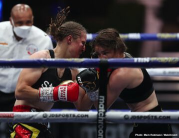 Alen Babic, Alexander Povetkin, Delfine Persoon, Dillian Whyte, Katie Taylor - The highly anticipated Fight Camp finale on DAZN delivered a pair of candidates for annual honors as Alexander Povetkin's stunning knockout victory over Dillian Whyte and Katie Taylor's hard-fought win over Delfine Persoon are guaranteed to be leading contenders for their respective awards. In the main event, Povetkin (36-2-1, 25 KOs) rallied back after being sent to the canvas twice in the 4th round from left hands and delivered a sensational left uppercut of his own in the 5th round to unseat Whyte (27-2, 18 KOs) as the longtime number one contender. Promoter Eddie Hearn insisted that Whyte will trigger his immediate rematch clause and that they will look to stage the rematch before the end of 2020.