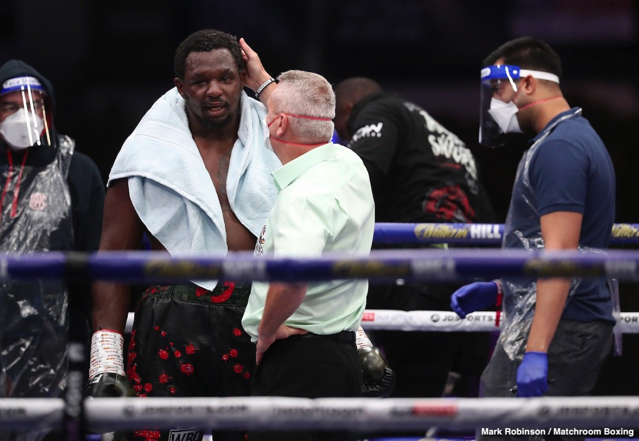 "Andy Ruiz, Dillian Whyte - As fight fans know, Andy Ruiz and Dillian Whyte got into it on social media earlier this year, the two slinging insults at one another. Whyte, along with poking fun at the former heavyweight champ's weight, accused him of not having the guts to face him in the ring. It came as no reason then, when ""The Destroyer"" could not stop himself from laughing out loud when Whyte got clocked by Alexander Povetkin a week ago today."
