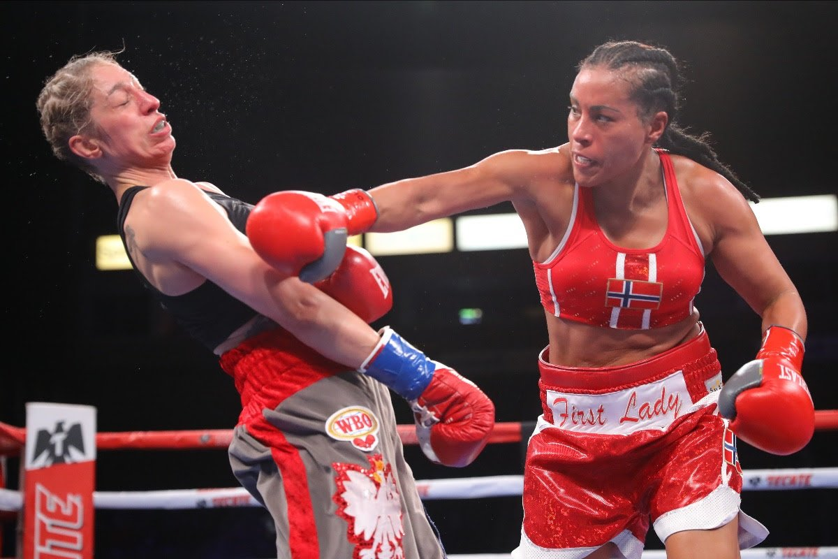 Cecilia Braekhus, Jessica McCaskill - Welterweight champion taking COVID-19 and record-breaking Tulsa fight in her stride Cecilia Brækhus says her experience will be the key as the undisputed Welterweight champion. She puts her titles on the line against Jessica McCaskill on the streets of downtown Tulsa, Oklahoma, on Saturday, August 15, live on DAZN.